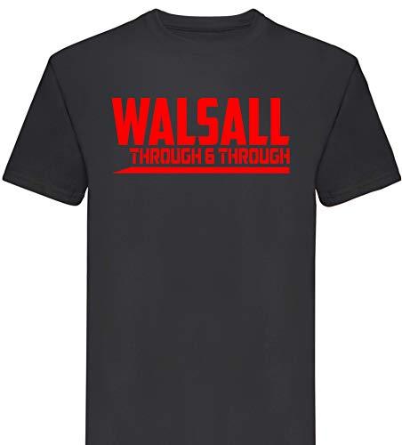 FootballApparelGifts Walsall Through and Through Premium T Shirt Gift Mens (Large) Black