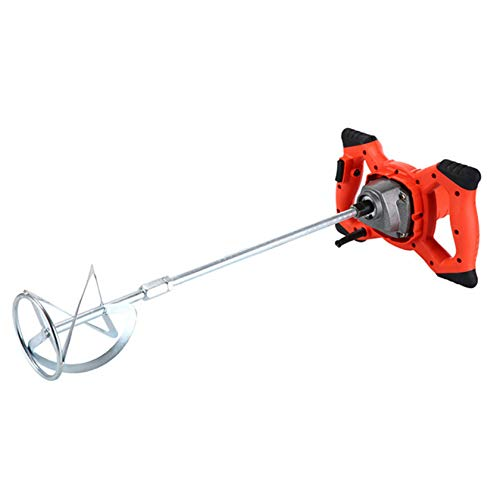LOOZY Handheld Portable Paddle Mixer, Adjustable 6 Speed Stirrer Anti-Slip Electric Industrial Drill Mixer Stirring Tool, for Mortar Grouts Paint Cement