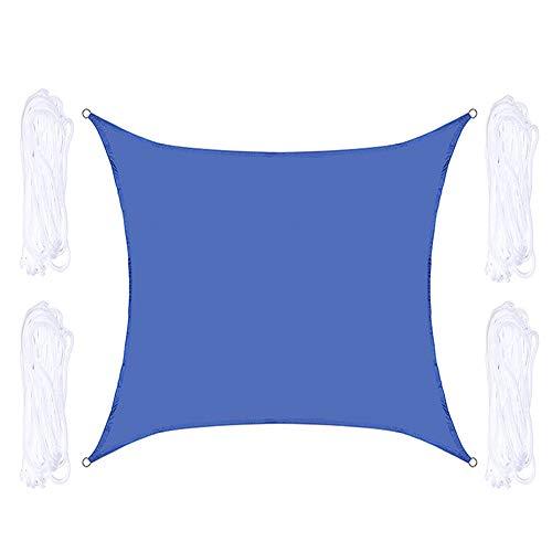 HOXMOMA Sun Shade Sail 5 x 5 M / 16.4'x16.4 'étanche auvent UV-Block 300D Oxford Canopy Pergolas Sunshade Cover for Patio Garden Backyard Outdoor Deck Beach,Bleu
