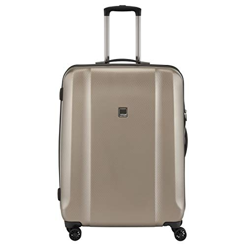 """TITAN Valise trolley \""""Xenon Deluxe\"""" avec 4 roues champagne Koffer, 67 cm, 80 liters, Beige (Champagne)"""