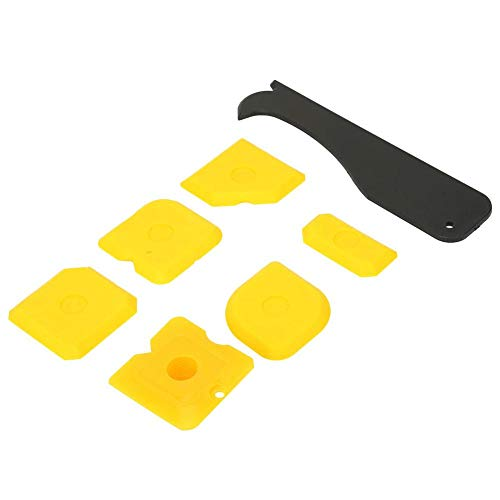 Samfox Silicone Grout Remover Sealant Caulking Tool, Kit de Herramientas de Limpieza de Rascador de Acabado Más Suave
