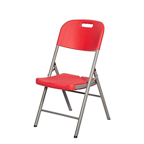 Sillas Plegables,sillas Plegables de Plástico,sillas Plegables de Metal para Interiores y Exteriores,sillas Plegables Portátiles Apilables,Elegantes y Simples,se Adaptan a The Body Curve.