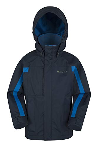 Mountain Warehouse Samson Waterproof Kids Rain Jacket Navy 5-6 Years
