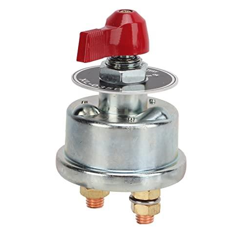 Interruptor de Desconexión de Batería, Carcasa de Aleación de Zinc 24-48V Interruptor de Desconexión de Batería Universal para Motocicletas para Automóviles Y Barcos