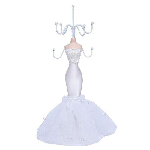 Exhibición De La Joyería del Soporte del Regalo del Día del Pendiente del Collar del Maniquí Vestido De La Princesa Cumpleaños Titular De San Valentín para Niñas Mujeres