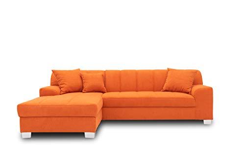 DOMO collection Capri Ecksofa | Eckcouch in L-Form, Polsterecke Sofa Garnitur, orange, 239x152x75 cm