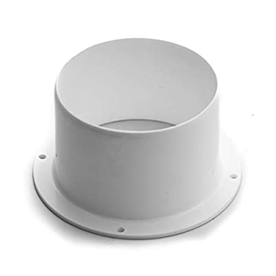 "Vent Systems 5"" inch Air Vent Duct Connector Flange Straight Ventilation Pipe Plastic Ducting Connector Plate for Cooling Heating Ventilation System HVAC 5"" inch"