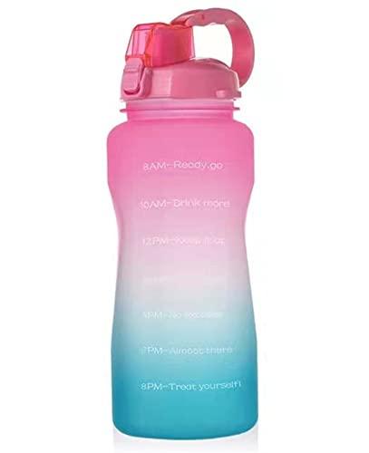 WYDMBH Botella de Agua Plegable 2 litros Material Degradado Botella de Agua Deportiva de Gran Capacidad con Deportes de Paja Fitness Botella de Agua Botella de Agua al Aire Libre (Color : A)