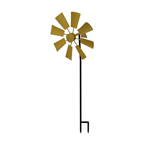 NRRN Wind Spinner, Spinning Kinetic Windmill Stake para exteriores, diseño vertical de postes para exteriores