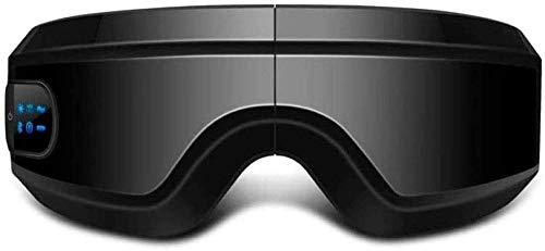 XUERUIGANG Masajeador de ojos eléctricos con calor, compresión de aire, música Bluetooth, Masajeador de ojos y templo inalámbricos para aliviar los ojos secos, la fatiga ocular, la mejora de la circul