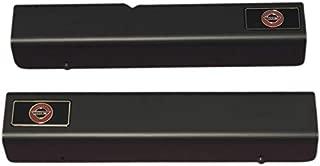 Eckler's Premier Quality Products 25-101545 - Corvette Sill Covers Altec Black Anodized With Emblem