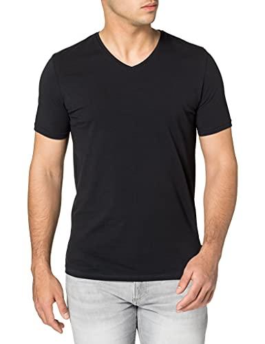 Springfield Camiseta Pico Slim, Negro, M para Hombre