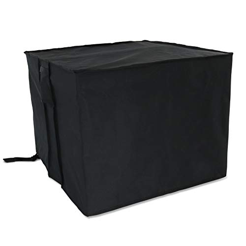 Kingling Fire Pit Cover, Square Fire Pit Cover Waterproof-Heavy Duty 600D Polyster with Thick PVC Coating Garden Patio Table Covers -Black, (30' L x 30' W x 25' H)