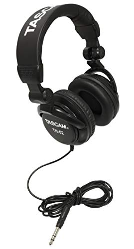 Price comparison product image Tascam TH-02 Closed Back Studio Headphones,  Black