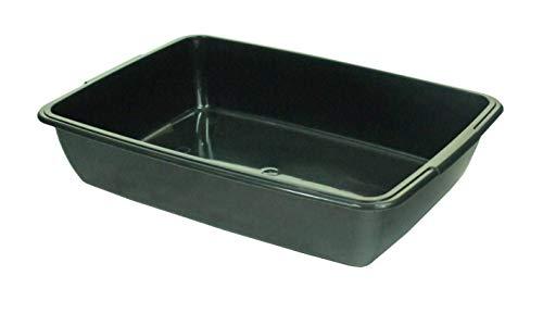 Whitefurze Plastic Pet Cat Kitten Toilet Loo Litter Tray Box (Dark Grey)