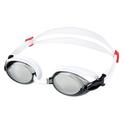 Dr.B Barracuda RX - Optische Schwimmbrille mit Sehstärke für Damen und Herren, 100{5a1fb0135261b5708151af15150d2f4399e5c30f6ec302f48e13a3fe0418fb60} UV-Schutz, Anti-Beschlag-Beschichtung #92295 (Weiß, -4.5)
