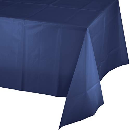 Navy Blue Plastic Tablecloth, 3 ct