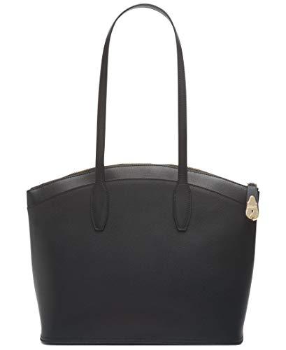 Calvin Klein Damen Lock Tote Umhängetasche, schwarz/Gold, Einheitsgröße