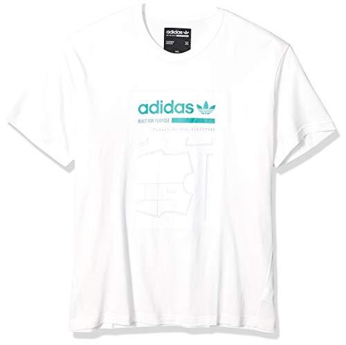 adidas Originals Graphic Tee T-Shirt, Bianco Nuvola, M Uomo