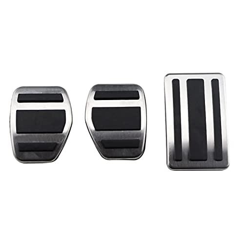 CHENGQIAN Pedana Auto Acceleratore Acceleratore Gas Brake Pedal Pedale Fit per Peugeot 508 Citroen C5 2012-2014 C6. Poggiapiedi Pedali Plate Cover Accessori per Auto (Color Name : Mt 3 PCS)