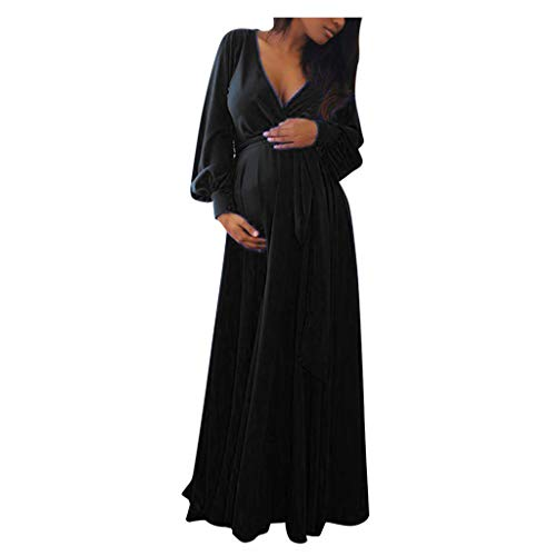 Lenfesh Abendkleider für Schwangere Umstandskleid Lang Umstandsmode Maxi Elegant Schwanger Schwangerschafts Cocktail Lange Maxi Abendkleid Kleid Maxikleid