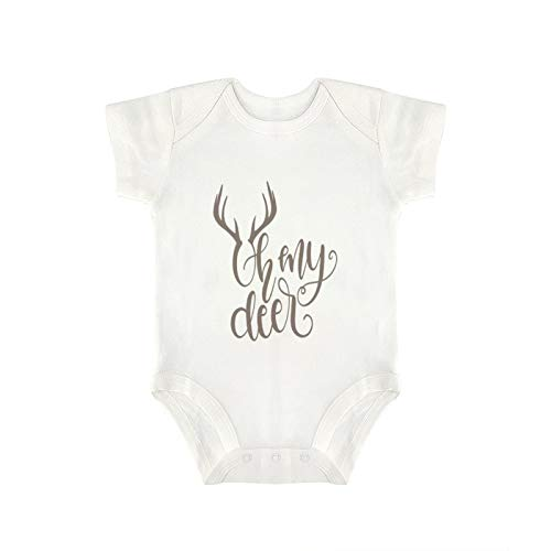DKISEE Novedad - Mono de bebé divertido de Oh My Deer para bebé y niña (18 meses)