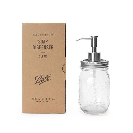 Ballmason Jar Soap Dispenser ボール メイソン ジャー ソープ ディスペンサー (CLEAR)