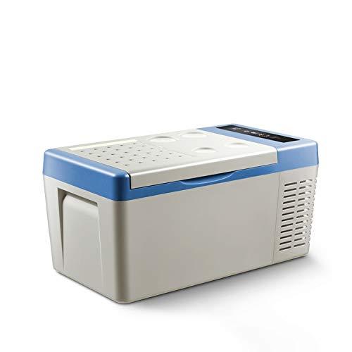 ZLININ Coche refrigerador 18L AC / DC12V24V Coche Refrigerador Camping portátil Picnic al Aire Libre Mini Frigorífico Compresor Congelador de Profundidad Caja de Enfriador para Viajar a Domicilio