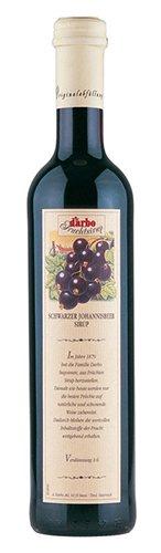 6x Darbo - Schwarzer Johannisbeer-Sirup, Glasflasche - 500ml