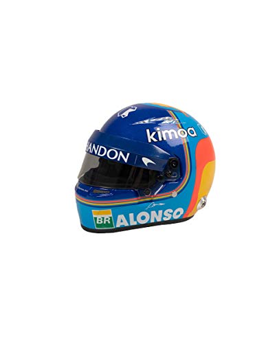 Kimoa - Casco Mini McLaren Renault, Adultos Unisex, Azul Eléctrico, Estandár