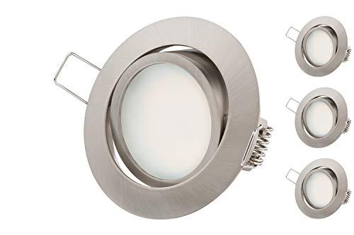 Faretto da incasso LED ultra piatto   5.5W 230V Bianco Caldo 3000K   Illuminazione ad Incasso   orientabile Luci da Incasso per Cartongesso