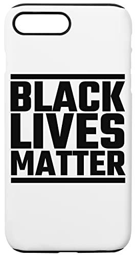 Black Lives Matter Caja del Teléfono para iPhone 7 Plus, iPhone 8 Plus Concha Dura con Capa De Silicona en el Interior Phone Case
