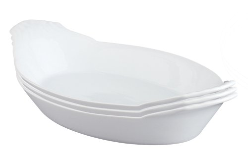 HIC Harold Import Co. HIC Porcelain Oval Au Gratin (Set of 3), 1 EA
