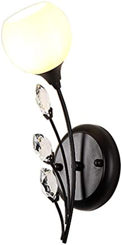 Deng bi deng Fernsehwandhintergrundwand der schwarzen Wandlampe Schlafzimmernachttischlampe Wohnzimmer und andere kreative Gangwandwandlampen E27 Wandlampe