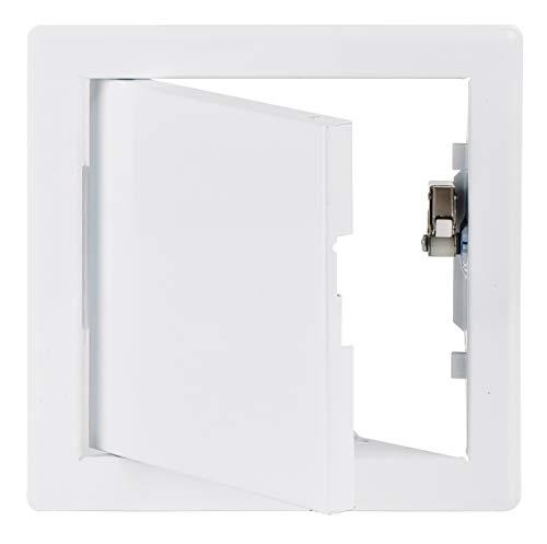 15x15 cm Weiß Schnappverschluss Wartungsklappe Revisionsklappen - Revisionsklappe mit Druckverschluss (150x150 mm)