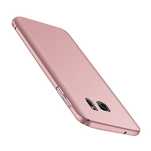 Wouier Samsung Galaxy S7 Hülle, Mode-Design Ultra Slim Federleicht Anti-dropping Schrubben PC Hart Hülle Schutzhülle für Samsung Galaxy S7 (Samsung Galaxy S7, Rose gold)