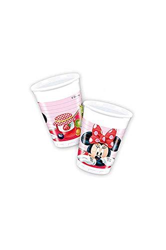 Unique Party Lot de 8 gobelets en Plastique Disney Minnie Mouse 200 ML