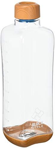 パール金属(PEARL METAL) マグボトル ウッド調×クリア 1L プラスチックアクアボトル ブロックスタイル HB-4856