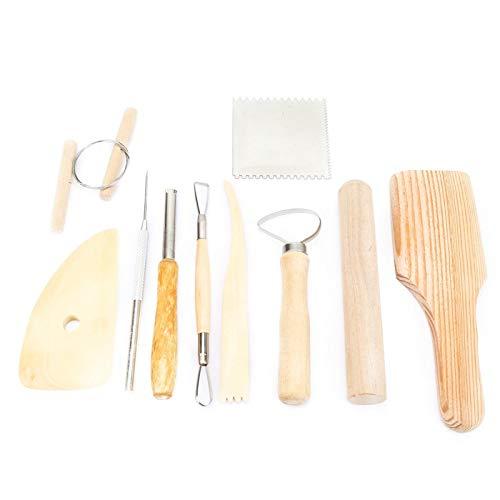 Semiter 【Venta del día de la Madre】 Cuchillo para tallar, Herramienta para tallar Arcilla de Madera Multifuncional, cerámica Suave Corte Delicado y Exquisito para tallar Modelado Raspado