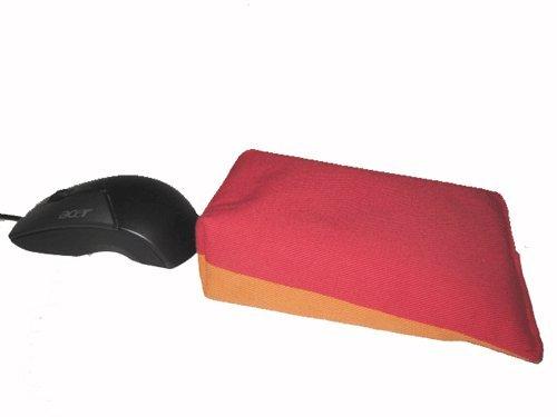 Maus-Kissen/Handgelenkauflage rot/orange