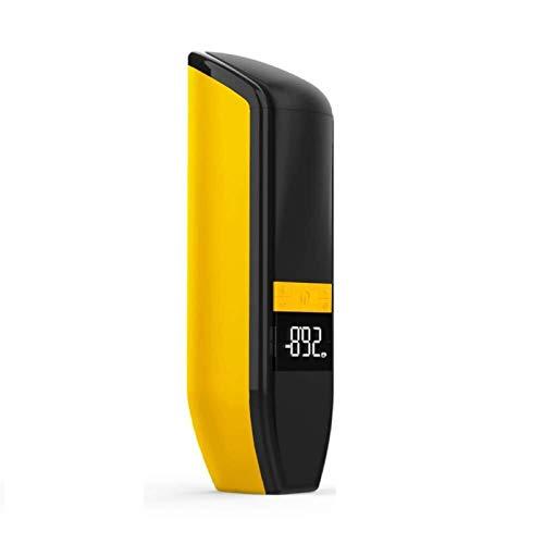Aviski 6000mAh Portable Air Compressor, Mini Tyre Inflator, USB Rechargeable Electric Bike Pump with Emergency Light, Digital Display for Bicycle, Motorcycle, Car Tyres, Balls - Orange