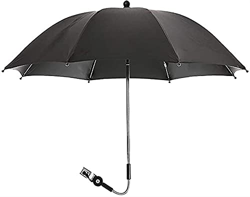 LIUPING Baby Parasol Sun Umbrella Shade Maker Canopy para Shotchair PRAM Buggy (Color : Black, Size : 75cm)