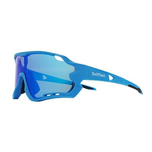 ZoliTime 2020 Nuevas gafas de ciclismo Gafas de sol polarizadas para deportes al aire libre con 4 lentes intercambiables UV400.