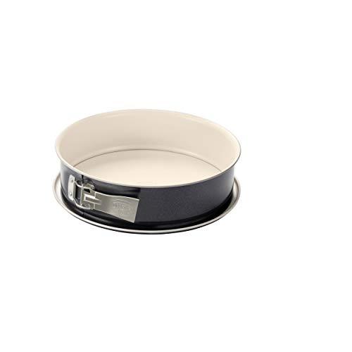 Dr. Oetker Springform Ø 26 cm BACK-TREND, Kuchenform mit Flachboden, runde Backform aus Stahl mit keramisch verstärkter Antihaft-Beschichtung (Farbe: creme/anthrazit), Menge: 1 Stück