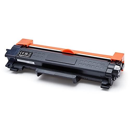 Amazon Basics - Cartucho de tóner regenerado de alto rendimiento, repuesto para Brother TN-2420, alta capacidad, paquete de 1unidad (color negro)