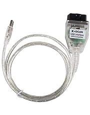 INPA K + DCAN K DCAN Interface, Herramienta de diagnóstico OBD II Cable SSS ISTA NCS Codificación Winkfp Programación E Serials con Switch ULTRAOBD2