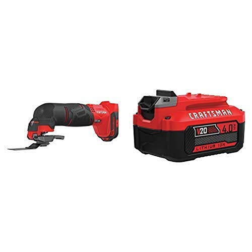 Amazing Deal CRAFTSMAN V20 Oscillating Tool with Lithium Ion Battery, 4.0-Amp Hour, Charger Sold Sep...
