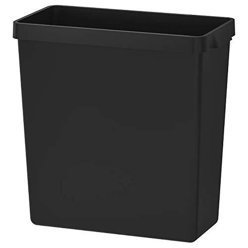 mDesign Cubo de basura con asas Dise/ño moderno en pl/ástico resistente Ideal como papelera o contenedor de pl/ástico para el ba/ño la cocina o la oficina marr/ón oscuro