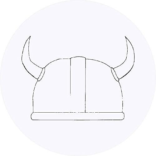 Azeeda 24 x 40mm Redondas 'Casco Vikingo' Pegatinas (SK00006539)