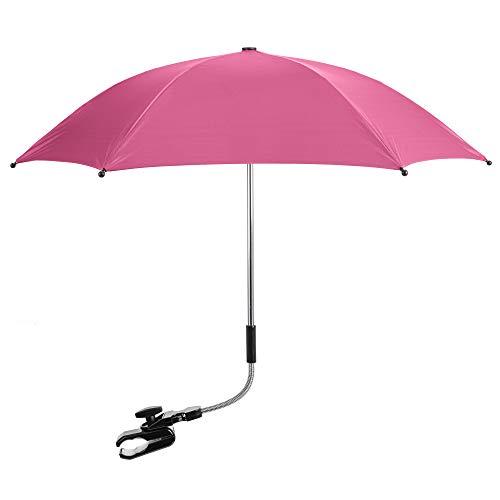 Baby Parasol Sun Umbrella Shade Maker Canopy for Pushchair Pram Buggy - Hot Pink